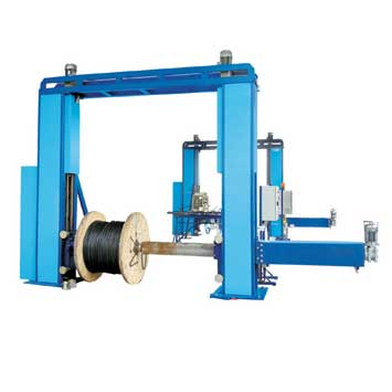 Rewinders for cable drums with weight up to 10 tons and diameter up to 3 meters